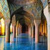 Знаменитая Розовая мечеть (Nasir al-Mulk)