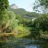 Крымское горное озеро в районе Ангарского перевала. Ангарский перевал, Крым