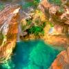 Ликийская тропа: небольшой пруд с водопадом, поселок Кабак