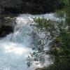 С этого водопада начинаются плавательные бассейны. Поход по Крыму. Фото Дмитрия Киселева