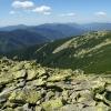Карпаты поход: Горганы, панорама Горган с вершины Лопушна