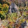 Поход с палатками: скалы урочища Смерековый Камень