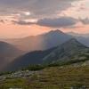 Пеший поход по Карпатам: вечерняя заря, гора Синяк