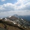 Поход Карпаты: Вид на Черную Гору с горы Мунчель