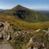Поход в Карпаты: Вид на Говерлу с вершины горы Брескул.