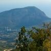 Вид на Медведь-гору с горы Парагильмен, поход по Крыму