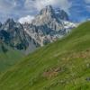 Сванетия: гора Ушба с перевала Гули
