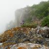 Туман над вершиной Тепе-Кермен. Поход по Крыму