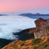 Карпаты поход: Гора Поп Иван (Черногора). На заднем плане Мармаросский массив