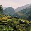 Поход по Непалу: трек вокруг Манаслу, дорога в Катманду, рисовые поля