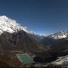 Непал: вокруг Манаслу, вид с базового лагеря Манаслу (Manaslu Base Camp)