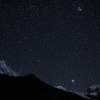 Непал: трек вокруг Манаслу, ночное небо над деревней Самогаон