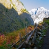 Непал: трек вокруг Манаслу, деревня Денг, другая сторона ущелья