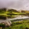 Поход по хребту Свидовец в Карпатах, озеро Герешаска